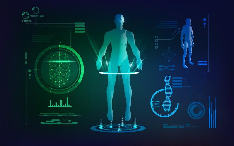 Biometrische Scans zur Körperbildgebung