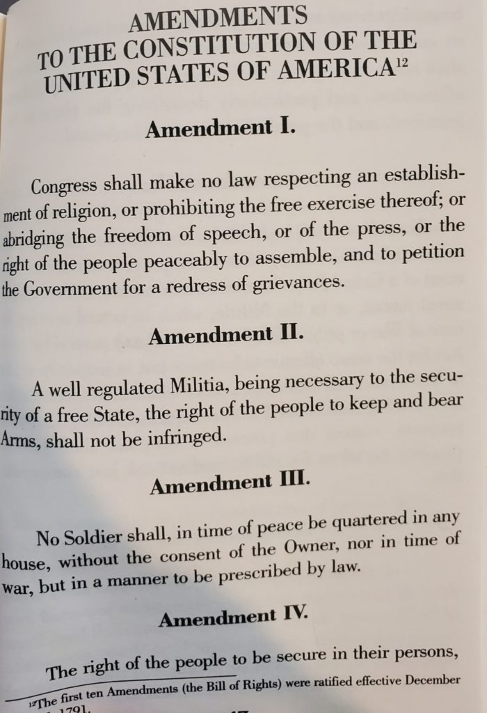 Ammendments 1-4 Constitution
